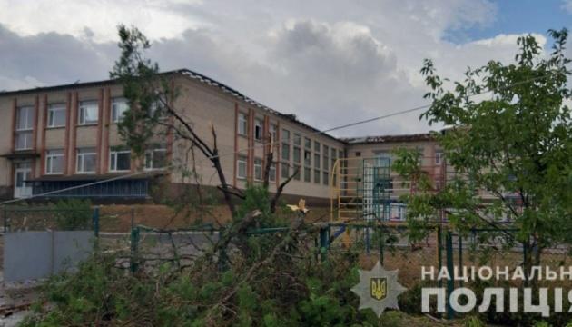 На Херсонщине ураган повредил крыши и валил деревья