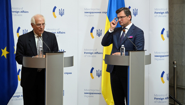 Kuleba, Borrell discuss preparations for EU-Ukraine summit