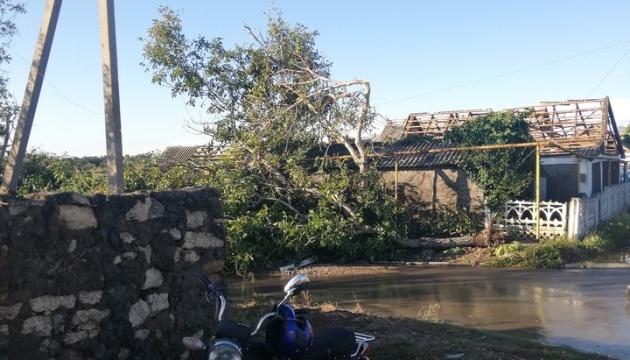 Буревій на Херсонщині: зірвані 300 дахів, повалені дерева, відрізаний газ