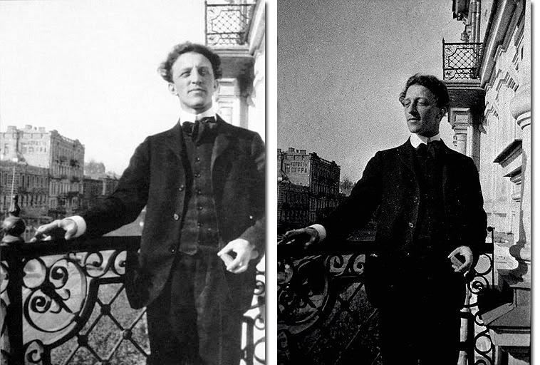 Александр Блок на балконе гостиницы «Эрмитаж» в Киеве, 1907