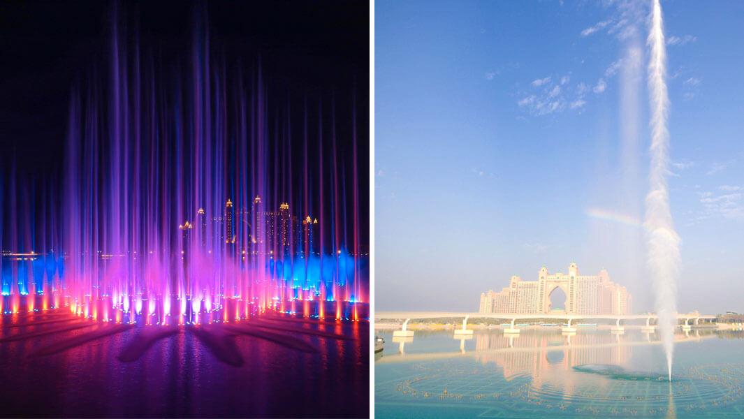 Самый большой в мире фонтан открыли в Дубае
