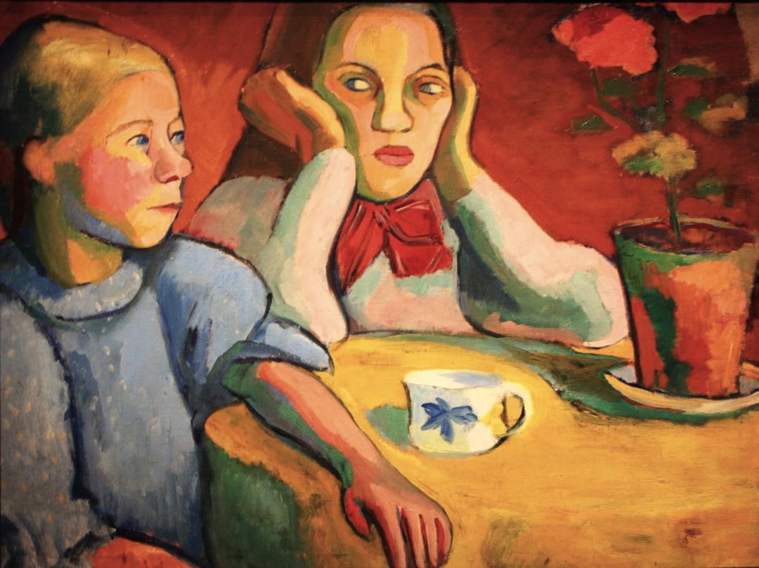 Дві фінські дівчини, Соня Делоне, 1907 р.