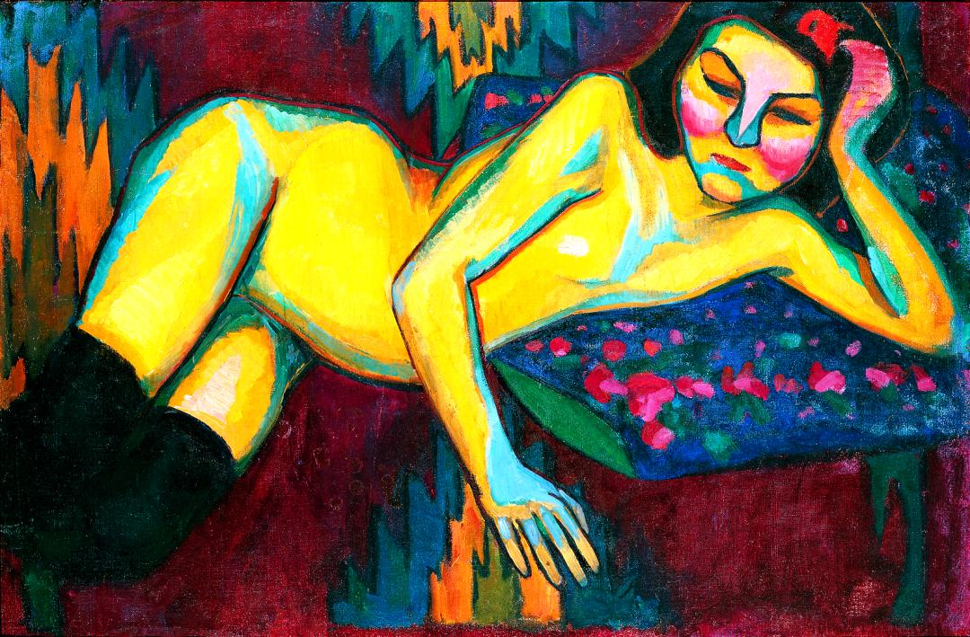 Жовта оголена, Соня Делоне, 1908 р.