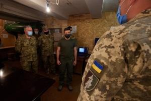 Зеленський поспілкувався з військовими у зоні ООС