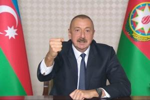 Президент Азербайджана назвал условия прекращения огня в Нагорном Карабахе