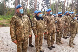 Ukrainian peacekeepers return from Congo