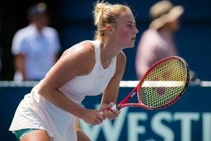 Tennis: Marta Kostyuk erreicht Viertelfinale des WTA-Turniers in Macon