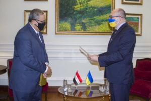 В Украине начал работу новый посол Египта
