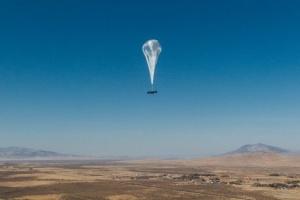 Воздушный шар Google, который раздает интернет, установил рекорд в стратосфере