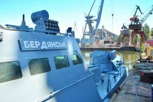 У Миколаєві достроково відновили бронекатер «Бердянськ», обстріляний військовими РФ