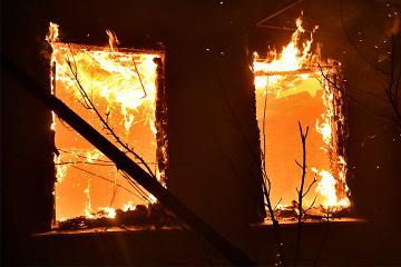 Un violent feu ravage la forêt dans la région de Louhansk