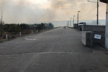 """Waldbrände in Region Luhansk: Feuer erreicht Kontrollposten """"Stanyzja Luhanska"""""""