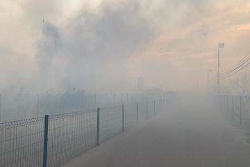 ルハンシク州の火災、被占領地移動用の通過検問地点設備に到達