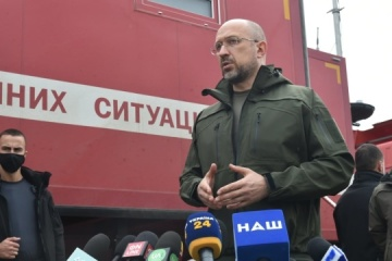 PM Shmyhal: Critical infrastructure facilities in Luhansk regions not damaged by fire