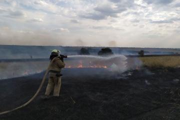 Brände in Region Luhansk: Löscharbeiten dauern an