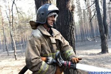 Seven out of nine fires in Luhansk region under control, one contained