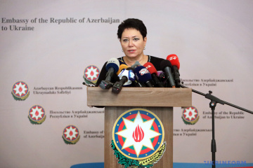 Embajadora: Azerbaiyán agradece a Ucrania el apoyo a su integridad territorial