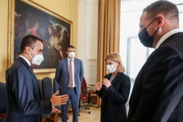 Yermak, Stefanishyna meet with Italian foreign minister to discuss situation in Donbas