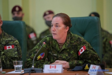 Lieutenant-Colonel Sarah Heer takes command of Operation UNIFIER in Ukraine