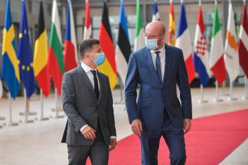 【宇EU首脳会談】EUの対露制裁はウクライナの領土一体性回復まで続く=ゼレンシキー大統領