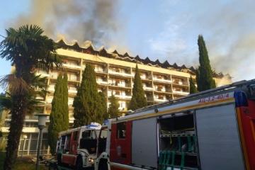 """Sanatorium """"Yalta"""" brennt auf besetzter Halbinsel Krim"""