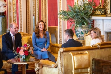 Ukraine's presidential couple meet with Duke and Duchess of Cambridge