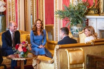 La pareja presidencial se reúne con el duque y la duquesa de Cambridge