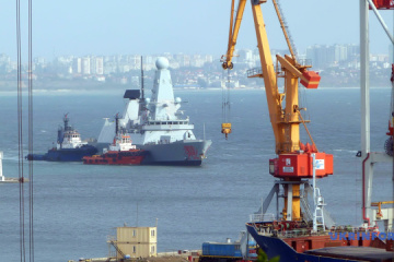 UK destroyer Dragon enters port of Odesa