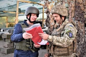 Lithuanian delegation visits Donbas