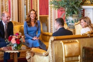 Volodymyr et Olena Zelensky reçus en audience par le duc et la duchesse de Cambridge