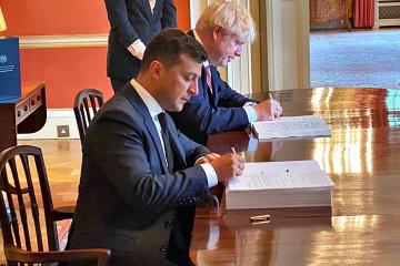 L'Ukraine et la Grande-Bretagne ont signé un accord de partenariat et de commerce