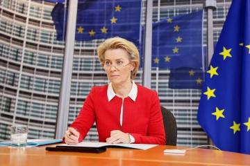 Jefa de la Comisión Europea desea a Zelensky una pronta recuperación