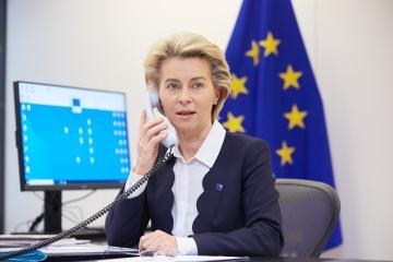 Von der Leyen a Zelensky: La UE quiere ayudar a Ucrania a combatir el COVID-19