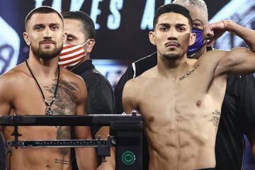 Lomachenko y Lopez muestran el mismo peso en el pesaje