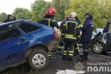 Verkehrsunfall in Region Lwiw: Drei Tote bei Zusammenstoß von vier Pkws