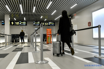 Passenger traffic through Ukrainian airports dropped by almost 65% in 2020