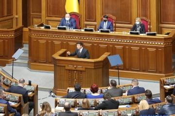 Volodymyr Zelensky : l'armée ukrainienne saura défendre notre pays sur terre, sur les eaux, dans les airs et dans le cyberespace
