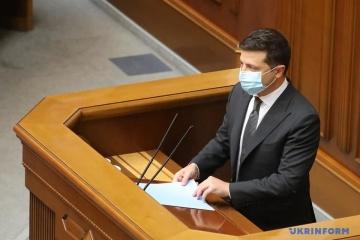 Volodymyr Zelensky prononce son message annuel à la Verkhovna Rada