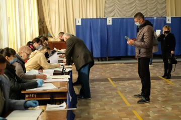 Voter turnout in local elections in Kyiv as of 21:30 is 34%