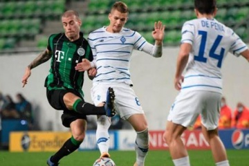 Dynamo draw with Ferencvaros in Champions League