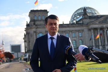 Razumkov: Ucrania interesada en el apoyo multipartidista alemán