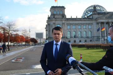 Razumkov: Cooperación interparlamentaria ayudará a Ucrania y Alemania a alcanzar objetivos ambiciosos