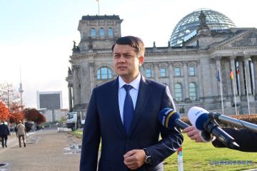 Rasumkow: Interparlamentarische Zusammenarbeit hilft der Ukraine und Deutschland bei Erreichung ehrgeiziger Ziele