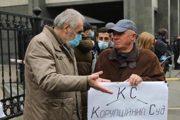 Protestaktion vor dem Verfassungsgericht