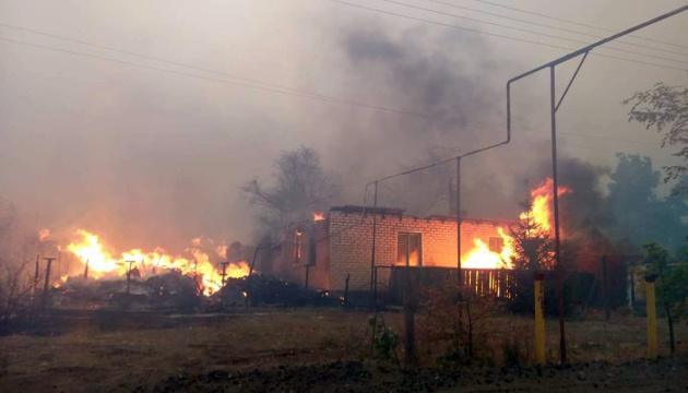 Waldbrände in Region Luhansk: Fünf Personen gestorben, zehn weitere verletzt