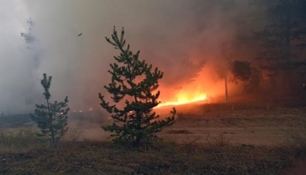 Від початку гасіння пожеж на Луганщині авіація скинула 1,6 тисячі тон води