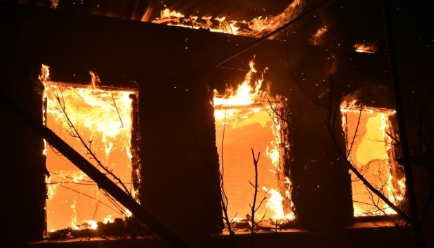 У зону пожеж на Луганщині потрапив 31 населений пункт