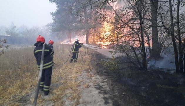 Площа пожежі на Луганщині збільшилась до 11 тисяч гектарів - ДСНС