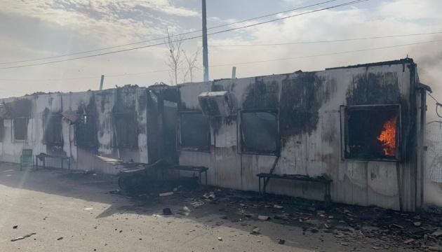 El incendio forestal daña la infraestructura del puesto de control