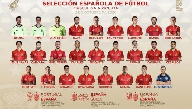Іспанці назвали склад на матчі з Португалією, Швейцарією та Україною